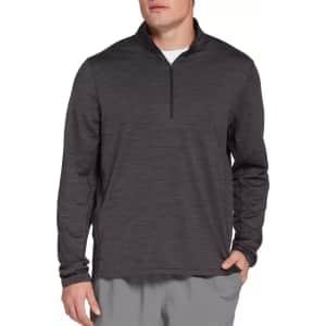 DSG Men's Sueded 1/4-Zip Jersey Shirt for $9