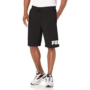 "PUMA Men's Big Logo 10"" Shorts, Cotton Black White, XX-Large for $30"