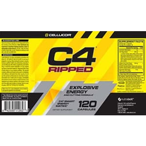 Cellucor C4 Ripped Pre Workout Capsules | Creatine Free + Sugar Free Preworkout Energy Supplement for Men & for $23
