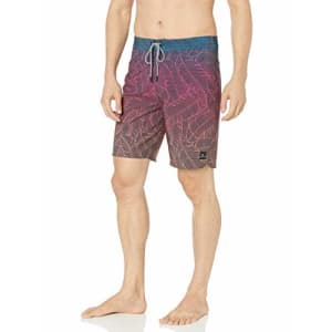 """Rip Curl Men's Mirage Free Breeze 19"""" Stretch Board Shorts, Pink, 38 for $51"""