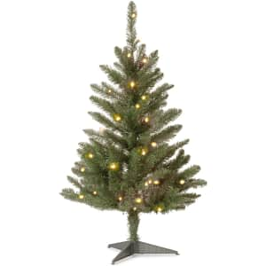 National Tree Company Pre-lit Artificial Mini Christmas Tree for $36