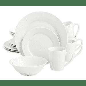 SALT Round Rim 16-Piece Dinnerware Set for $10