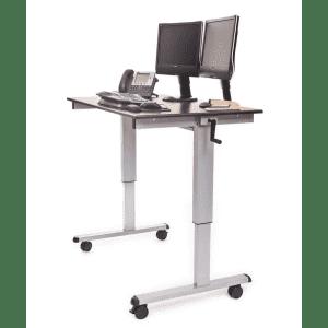 """Luxor 47"""" Crank Height-Adjustable Standing Desk for $248"""