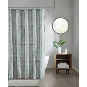 Madison Park Walter Printed Seersucker Shower Curtain for $9