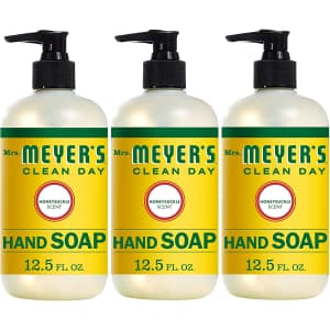 Mrs. Meyer's Clean Day Liquid Hand Soap 12.5-oz. Bottle 3-Pack for $12