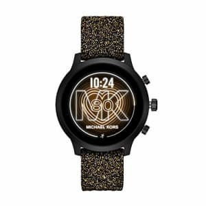 Michael Kors Access Women's MKGO Touchscreen Aluminum and Silicone Smartwatch, Black with Swarvoski for $340