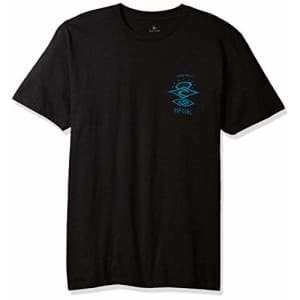 Rip Curl Men's Search Roots Premium Tee Shirt, Black, S for $14