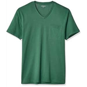 """Amazon Brand - Goodthreads Men's Slim-Fit """"The Perfect V-Neck T-Shirt"""" Short-Sleeve Cotton, Green for $13"""