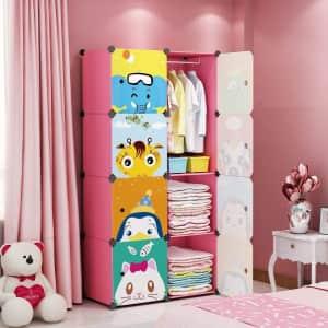 Maginels Kids' 8-Cube Wardrobe for $37