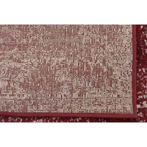 """Unique Loom Sofia Collection Traditional Vintage Area Rug, 3' 3"""" x 5' 3"""", Burgundy/Ivory for $44"""
