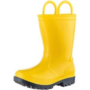 Allensky Kids' Rain Boots w/ Easy-On Handles from $13