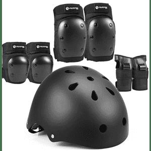 Purpol Helmet and Pads set for Skateboarding, Biking for $16