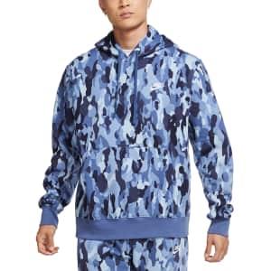 Nike Men's Sportswear Club Fleece Camo Hoodie for $24