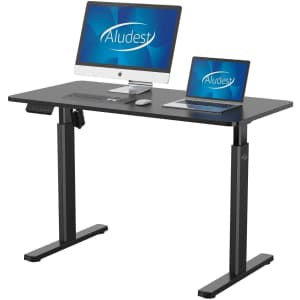 Aludest Electric Height Adjustable Desk for $154