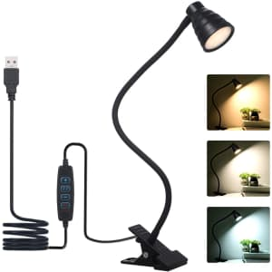 Tomshine 5W Clamp Desk Lamp for $7