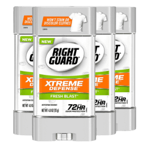 Right Guard Xtreme Defense Antiperspirant Gel 4-Pack for $16