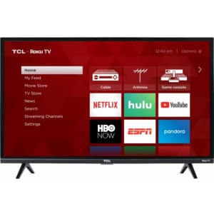 "TCL 32"" Smart Roku LED HDTV for $218"