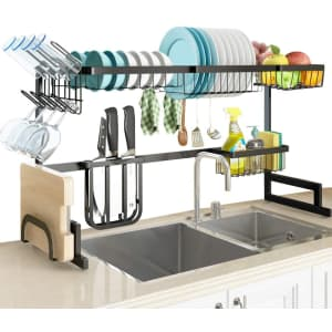 Slenpet Adjustable Over-the-Sink Dish Drying Rack for $40