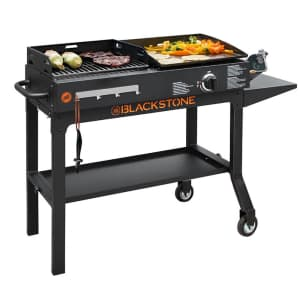 Blackstone Duo Gas Griddle & Charcoal Grill Combo for $199