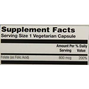 Solaray Folic Acid Capsules, 800mcg | 100 Count for $9