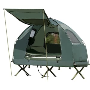1-Person Compact Portable Pop-Up Tent Air Mattress and Sleeping Bag for $153