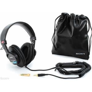Sony MDR7506 Professional Large Diaphragm Headphone (International Model) No Warranty for $108