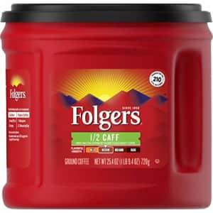 Folgers 1/2 Caff Medium Roast Ground Coffee, 25.4 Ounces for $13