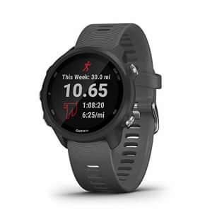 Garmin Forerunner 245, GPS Running Smartwatch with Advanced Dynamics, Slate Gray for $300
