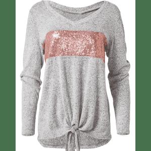 Venus Women's Cozy Sequin Stripe Lounge Top for $16