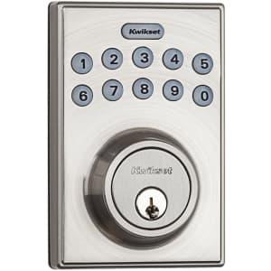 Kwikset Electronic Keypad Deadbolt w/ Motorized Locking for $43