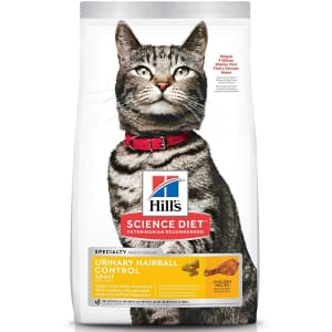 Hill's Pet Nutrition Hill's Science Diet Urinary & Hairball Control Adult Dry Cat Food 7-lb. Bag for $22 via Sub & Save