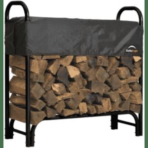 ShelterLogic Heavy Duty Firewood Rack w/ Cover for $57
