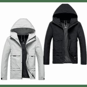 Men's Hooded Hiking Jacket 2-Pack for $33