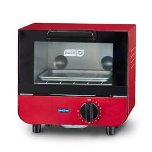 Dash DMTO100GBRD04 Mini Toaster Oven Cooker for Bread, Bagels, Cookies, Pizza, Paninis & More with for $60