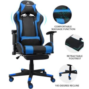 Famree Racing Style Gaming Chair with Massage Zones for $90