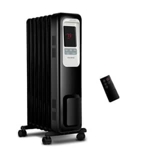 Pelonis Electric Radiator Heater, 1500W Portable Oil Filled Radiator Space Heater with Digital Thermostat, for $116