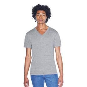 American Apparel Men's Tri-Blend V-Neck Short Sleeve T-Shirt, Athletic Grey, XX-Small for $15