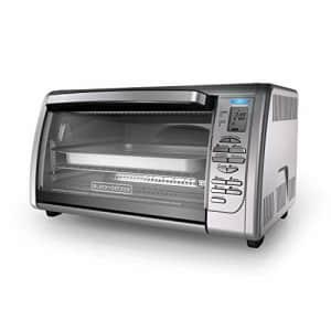 Black + Decker BLACK+DECKER Countertop Convection Toaster Oven, Silver, CTO6335S for $70