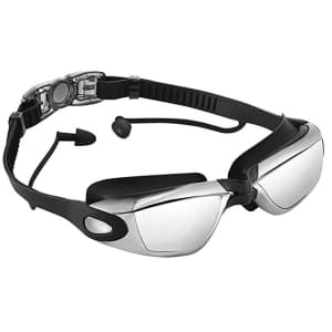 Opkall Adults' Swimming Goggles w/ Earplugs for $5