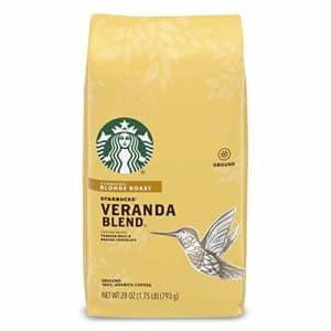 Starbucks Blonde Roast Ground Coffee Veranda Blend 1 bag (28 oz.) for $16