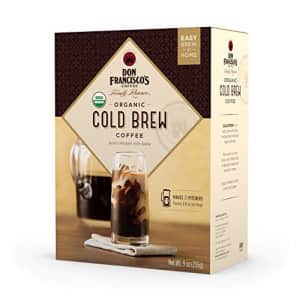 Don Franciscos Organic Cold Brew Coffee, 4 Pitcher Packs (makes 2 pitchers) for $10