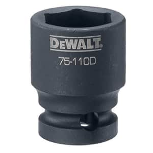 "DEWALT DWMT75110OSP 6 Point 1/2"" Drive Impact Socket 20MM for $5"