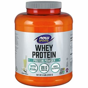 Now Foods NOW Sports Nutrition, Whey Protein, 26 G With BCAAs, Creamy Vanilla Powder, 6-Pound for $184