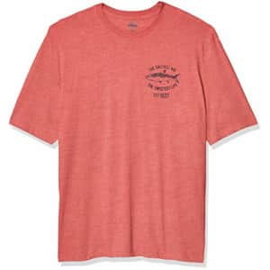 IZOD Men's Big & Tall Big Short Sleeve Graphic T-Shirt, Claret Red, Large Tall for $25