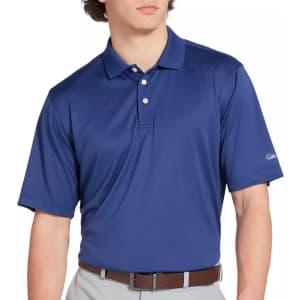 Walter Hagen Men's Essentials Solid Golf Polo for $10