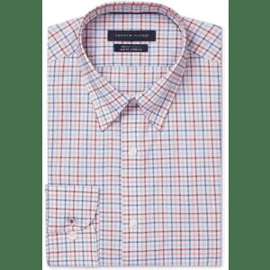 Tommy Hilfiger Men's Big & Tall Non-Iron Slim-Fit Dress Shirt for $15