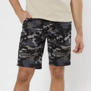 "Rue21 Men's 10"" Twill Cargo Shorts for $4"