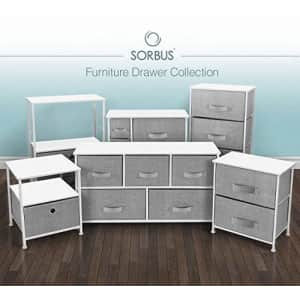 Sorbus Nightstand with 3 Drawers - Bedside Furniture & Accent End Table Storage Tower for Home, for $68