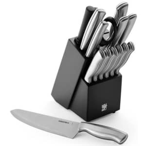 Sabatier 15-Piece Stamped Stainless Steel Knife Block Set for $40