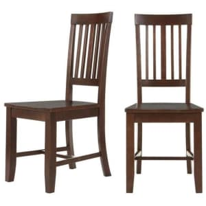 StyleWell Scottsbury Slat Back Wood Dining Chair 2-Pack for $83